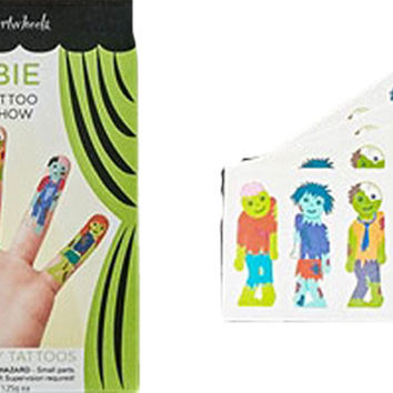 Temporary Halloween Tattoos Finger Puppet Show
