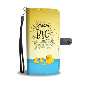 KUYOU Dream Big And Enjoy The Little Things Duck Wallet Phone Case