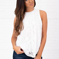 I Have Confidence Lace Top (Ivory)