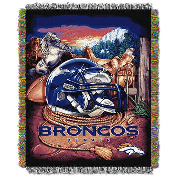 Denver Broncos NFL Woven Tapestry Throw (Home Field Advantage) (48x60)