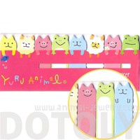 Alpaca Sheep Pig Frog Cat Shaped Animal Themed Memo Pad Post-it Index Sticky Bookmark Tabs