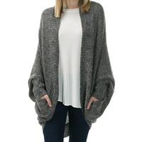 London Oversized Cardigan - Gray