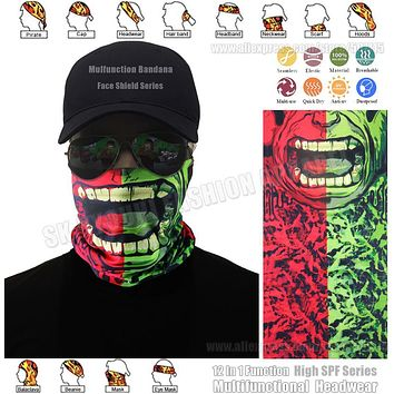 TRACKABLE SHIPPING Latest Fashion Seamless Face Shield Mask Multifunction Seamless Bandana Hypaethral Head Cap Unisex Scarf