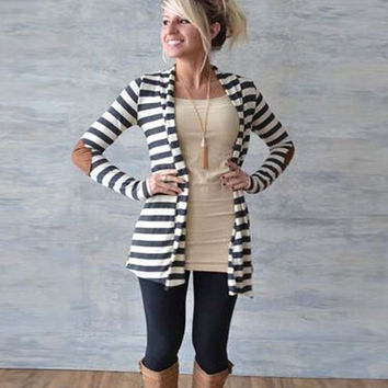 Fashion Striped Long Sleeve Mini Sweater