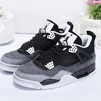 Air Jordan 4 Retro Fear Black/White-Cool Grey-Pure Platinum AJ4 Sneakers