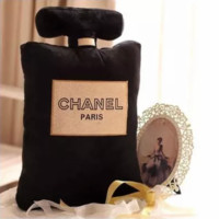 Chanel Office back gilt small incense home sofa plush pillow F0216-1 Black