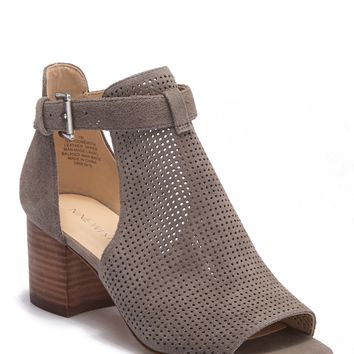 Nine West | Gone With Perforated Suede Bootie | Nordstrom Rack