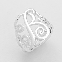 Variety Of Letter Silver Monogram Rings