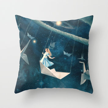 My Favourite Swing Ride Throw Pillow by Paula Belle Flores
