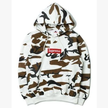 DCCKN6V Supreme fashion womne men fresh camouflage hoodie shirt