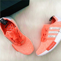 ADIDAS NMD Fashion Women Running Sport Casual Shoes Sneakers Shining Orange Shining