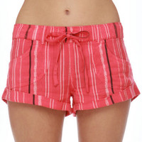 Roxy Nomad Stripe Shorts - Coral Pink Shorts - $39.50