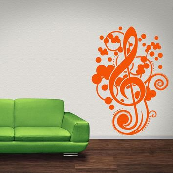 Musical Clef Wall Decal