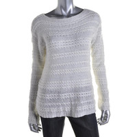 LRL Lauren Jeans Co. Womens Metallic Knit Pullover Sweater