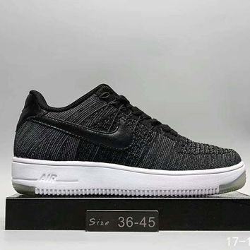One-nice™ Nike Air Force1 Women Men Running Sport Casual Shoes Sneakers Dark Grey I-A0-HXYDXPF