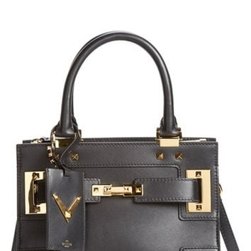 'Small My Rockstud' Leather Satchel