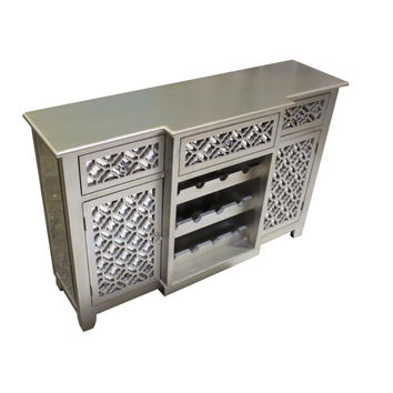 Sturdy Cabinet with Three Drawers and Two Doors