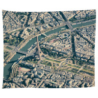 Paris From Above Tapestry