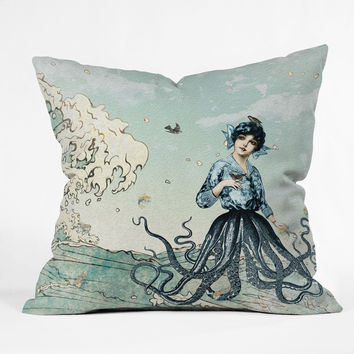 Belle13 Sea Fairy Throw Pillow