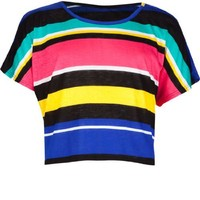 FULL TILT Striped Girls Boxy Top