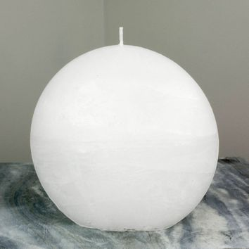 White Disc Candle | Large