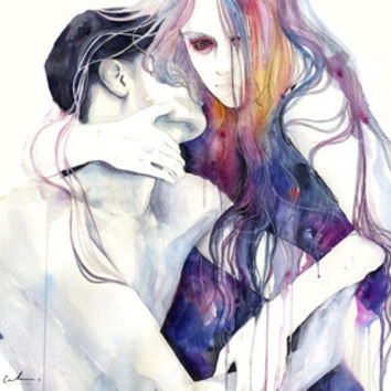 wakeful Art Print by agnes-cecile | Society6