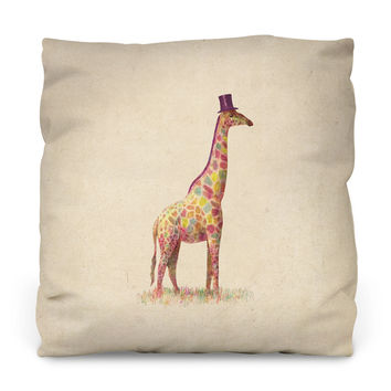 Fashionable Giraffe Throw Pillow