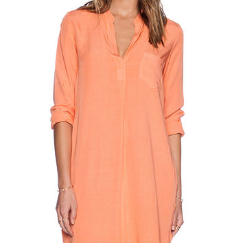 Splendid Rayon Voile Dress in Coral