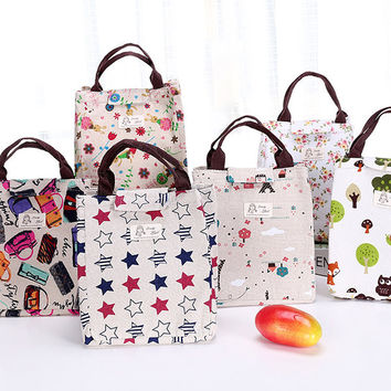 Oxford Waterproof Lunch Tote Bag Cooler Insulated Handbag Zipper Storage Containers