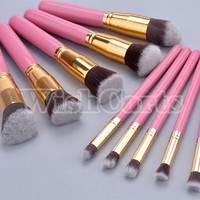2014 Women Makeup Brush Set blending Shadow Powder foundation Brushes SV006597 (Color: Pink)