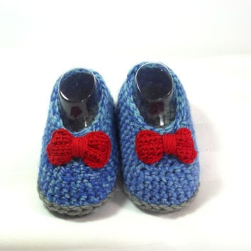 Baby Girl Loafer - Newborn Crochet Moccasin - Ballerina Style Baby Shoe - Christening Loafer - Designer Baby Shoe