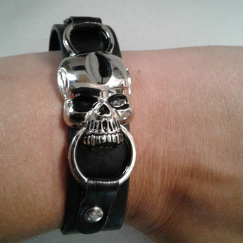 Skull Leather Band