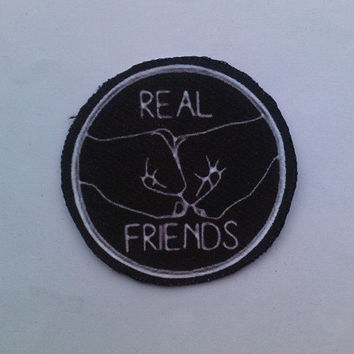 real friends iron on patch