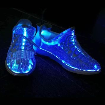 LED Luminous Running Shoes Unisex Sneakers Lace Shoes Colorful Glowing Shoes for Party Dancing Hip-hop Cycling Running