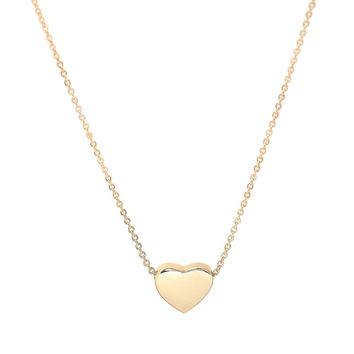 Sliding Simple Heart Necklace