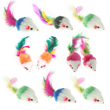 Bilipala Furry Pet Cat Toys Mice Cat Toy Mouse Pet Toys for Cats Cat Catcher for Feather Tails 10 Counting '