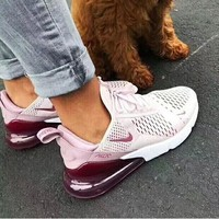 Nike Air Max 270 men and women The air cushion shoes Purple