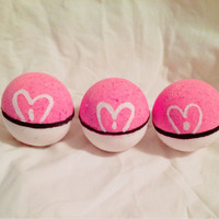 3 pack Pokeball Bath Bombs (with a mystery Pokemon toy inside!)