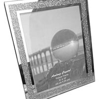 Amlong Crystal Sparkle Mirror Picture Frame, 8 x 10