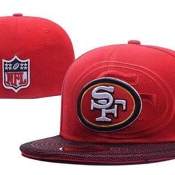 San Francisco 49ers New Era 59fifty Nfl Football Cap Red White