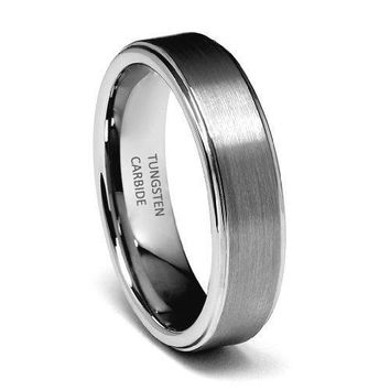 6mm Rounded Edge Men's Tungsten Wedding Band
