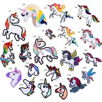Lot of 20 Iron On or Sew On Unicorn Patches