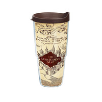 Tervis Harry Potter Marauders Map Individual Wrap Tumbler with Brown Lid 24 o...