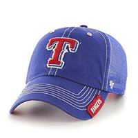 MLB Texas Rangers Turner Clean Up Adjustable Hat, One Size, Royal