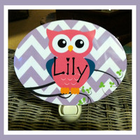 Monogrammed Night Light, Personalized Night Light, Monogrammed Gift, Personalized Gift, Nursery Night Light