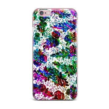 "Ebi Emporium ""Prismatic Posy II"" Rainbow Floral iPhone Case"