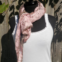 Multicolored pinks brown and black shawl, spring scarf, ready to ship!