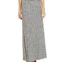 Nurture Multi Direction Stripe Skirt - Cream/Navy