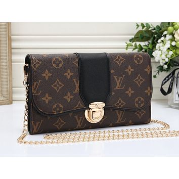 LV Fashion Hot Selling Colourful Manyin Lady's Single Shoulder Bag Black
