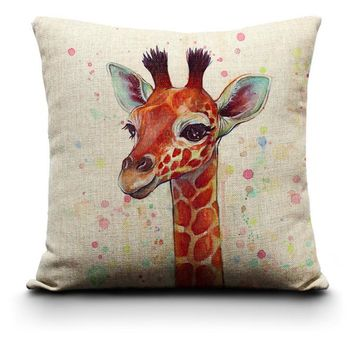 Giraffe Pillow Case Cover